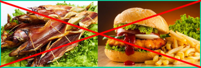 Стоит полностью отказаться от жирной и копченой пищи
