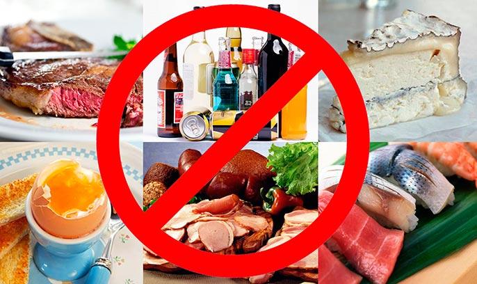Что нельзя употреблять из еды при заболевании печени