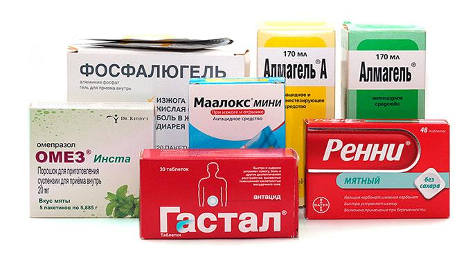 Что бы справиться с изжогой при эзофагите назначают антацидные препараты