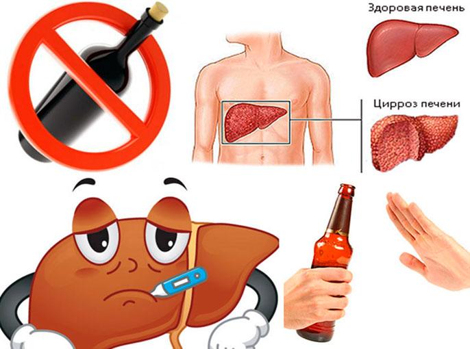 Алкогольный цирроз печени патогенез